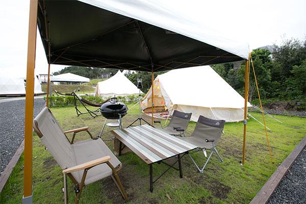 キャンプスタイルのテーブル・椅子