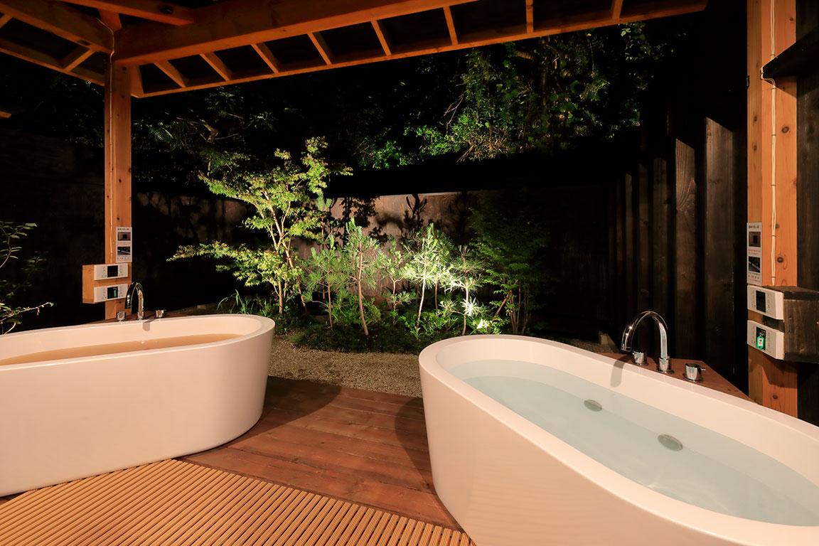 2種類の露天風呂温泉