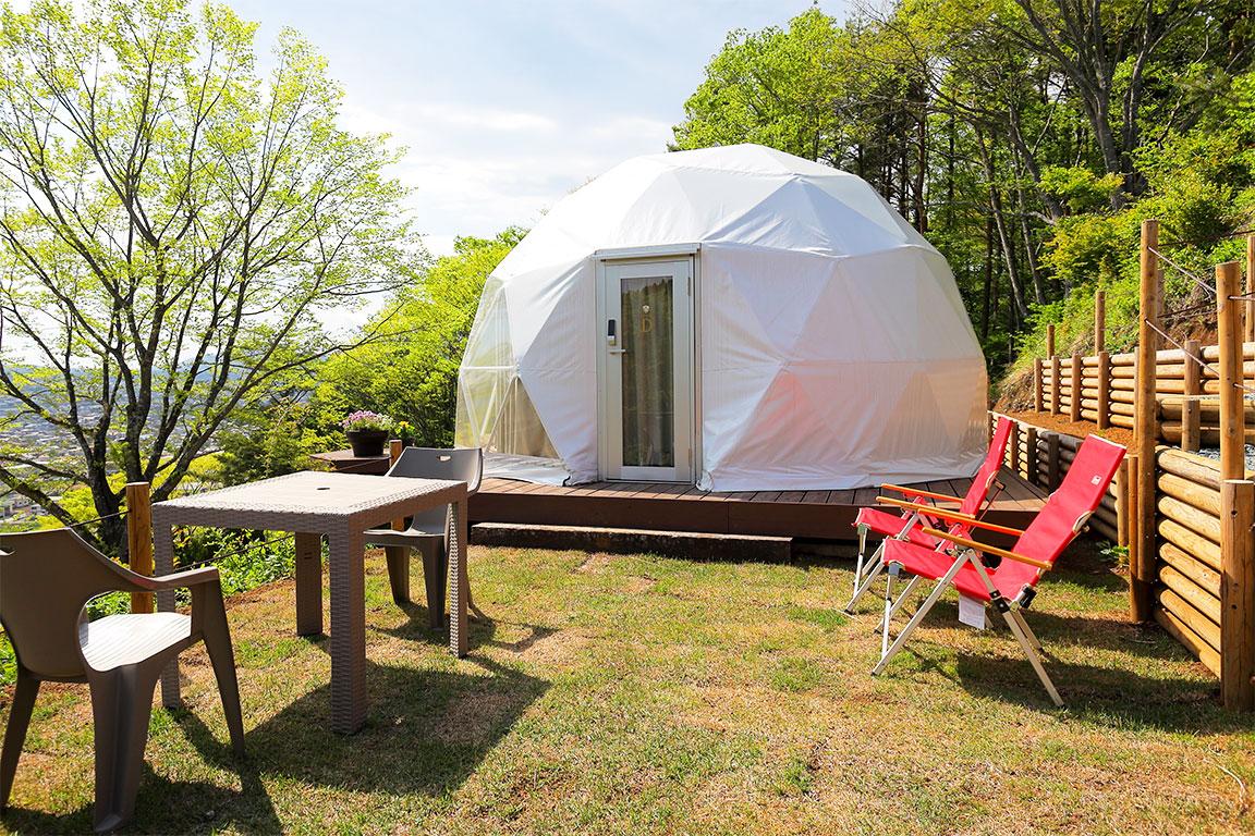 スイートドームテント:ツインベッドルーム