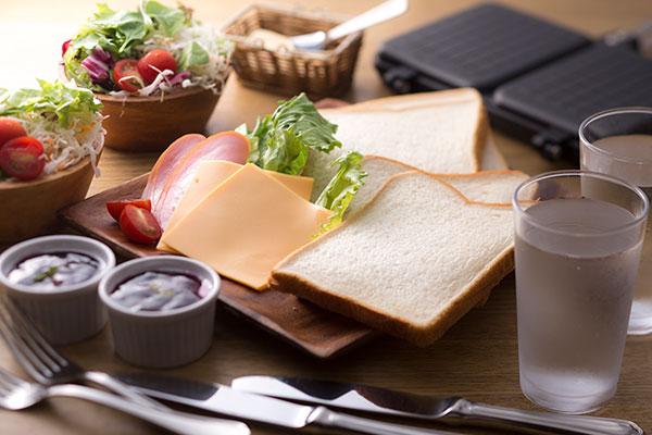 朝食:ホットサンド