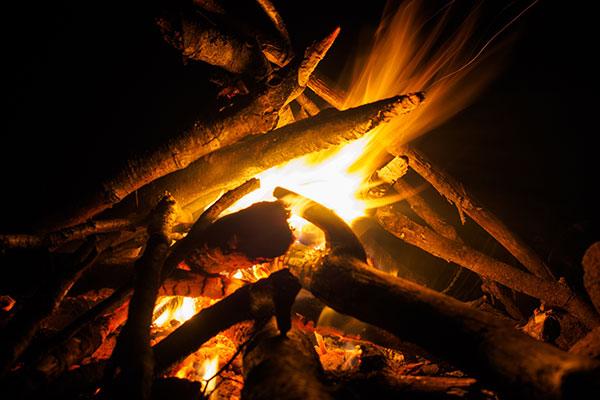 焚火スペース