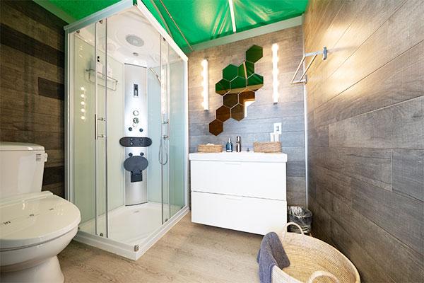【エアドーム】個別トイレ・シャワー