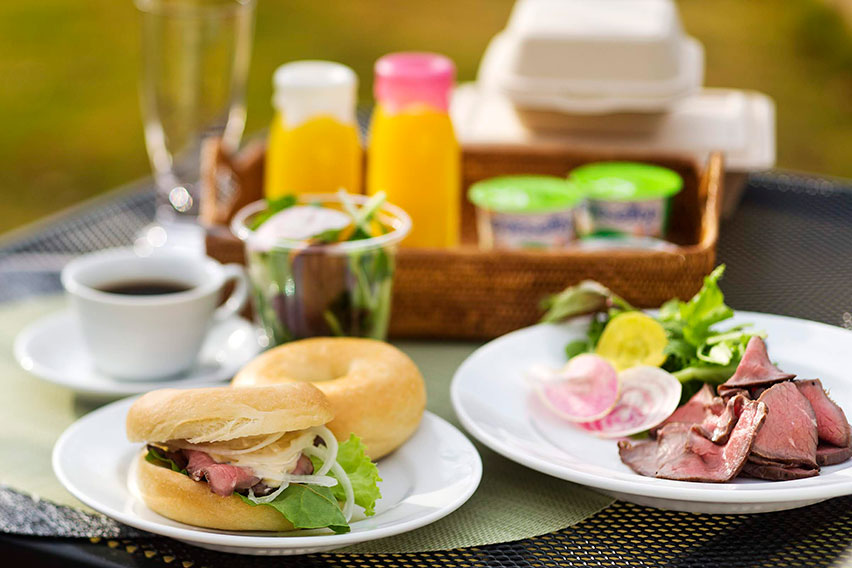 ローストビーフバーガー朝食