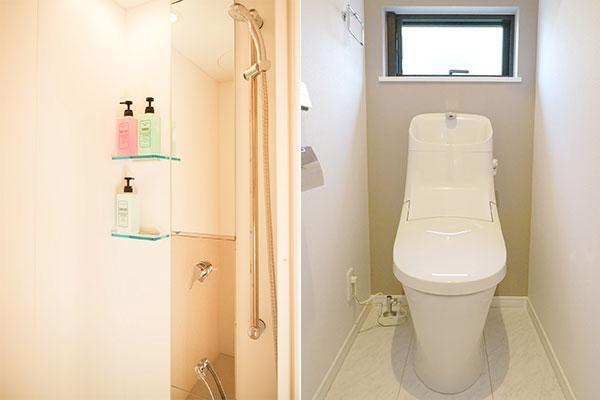 【テント】共用シャワー・トイレ