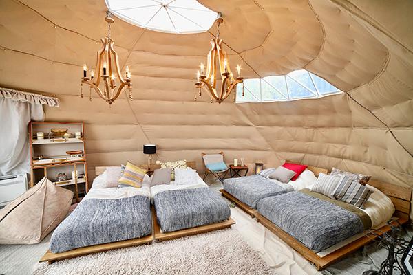 【露天風呂付き】オーバル型テント&ドーム型テント