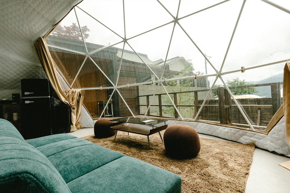 【温泉付き客室】ドームテント ≪ダブルベッド×2、シングルベッド×2≫