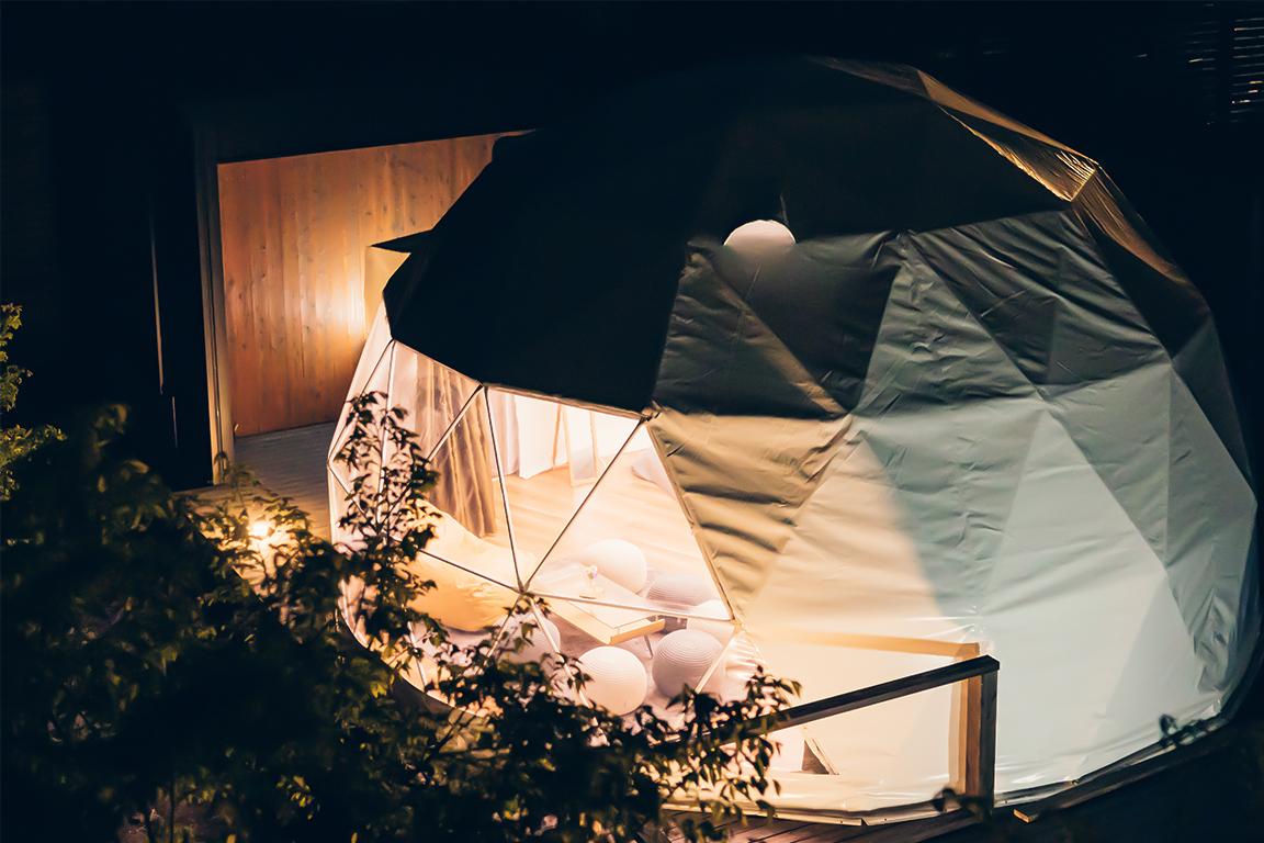 【温泉付き客室】ドームテント ≪ダブルベッド×3≫